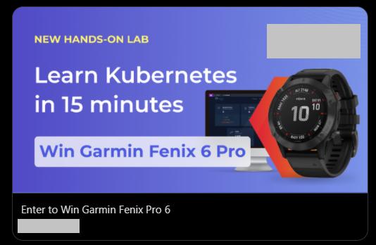 Garmin Kubernetes Twitter targeted ad