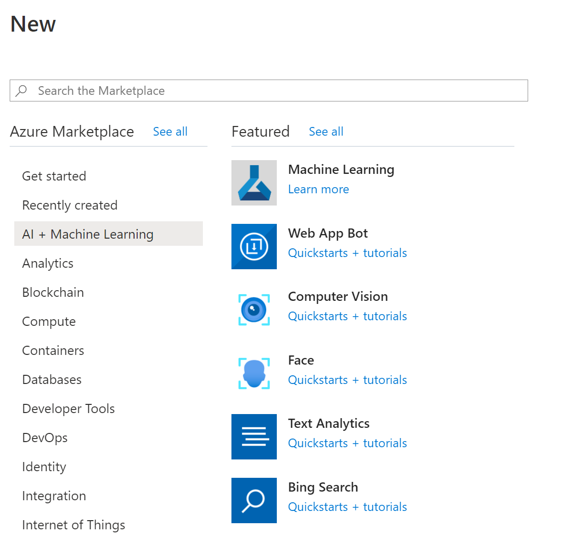Create Azure Machine Learning Resource