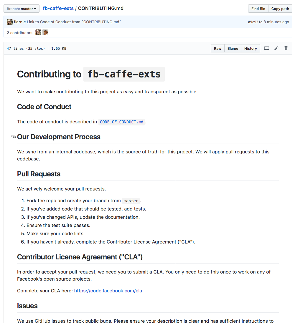 Add Code Of Conduct By Flarnie Pull Request 35 Facebookfb