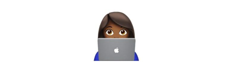 woman on pc emoji
