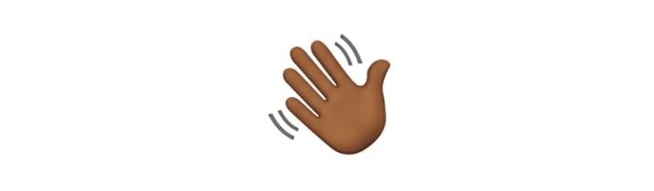 wave hand emoji