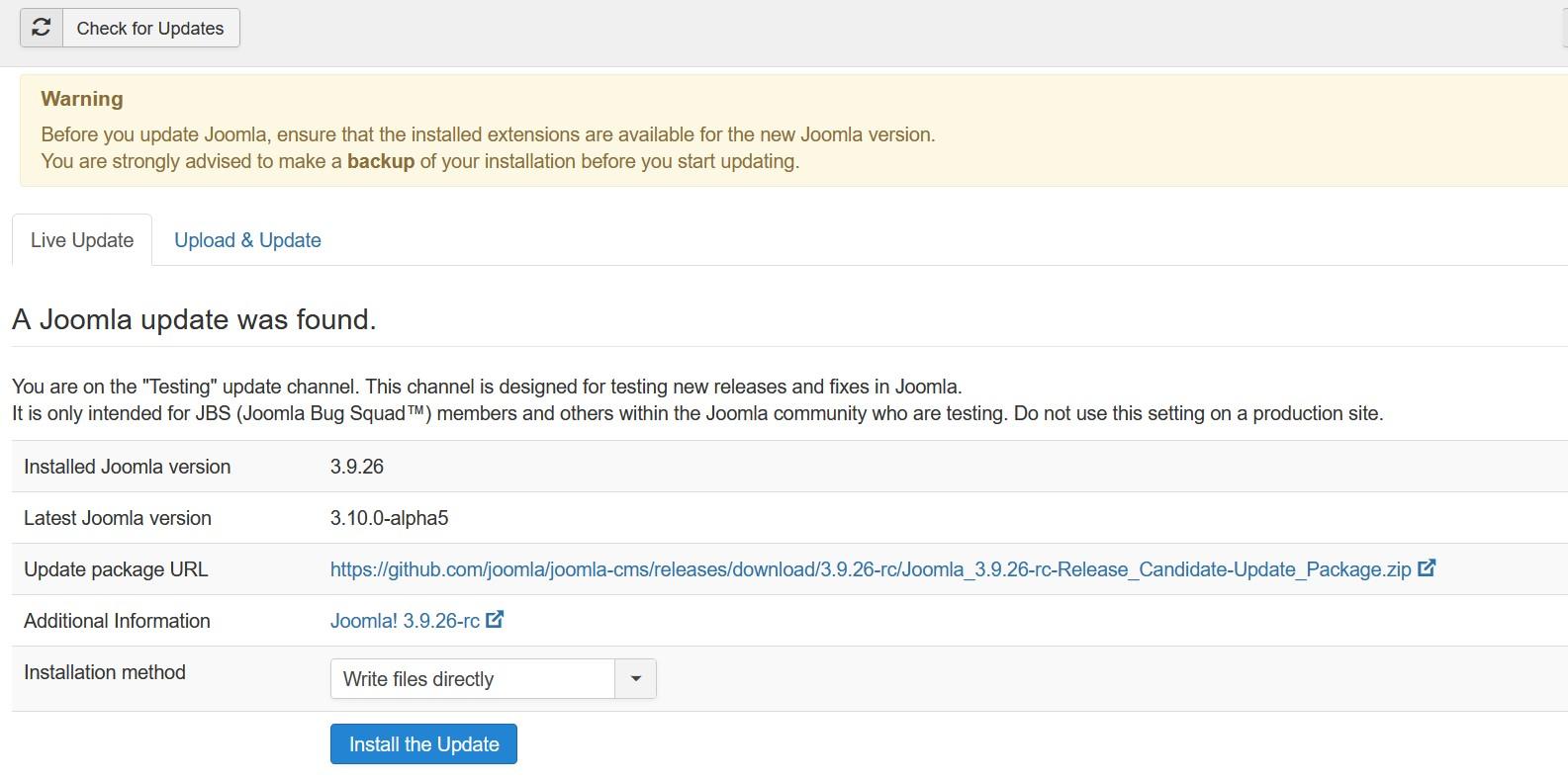 joomla update 02