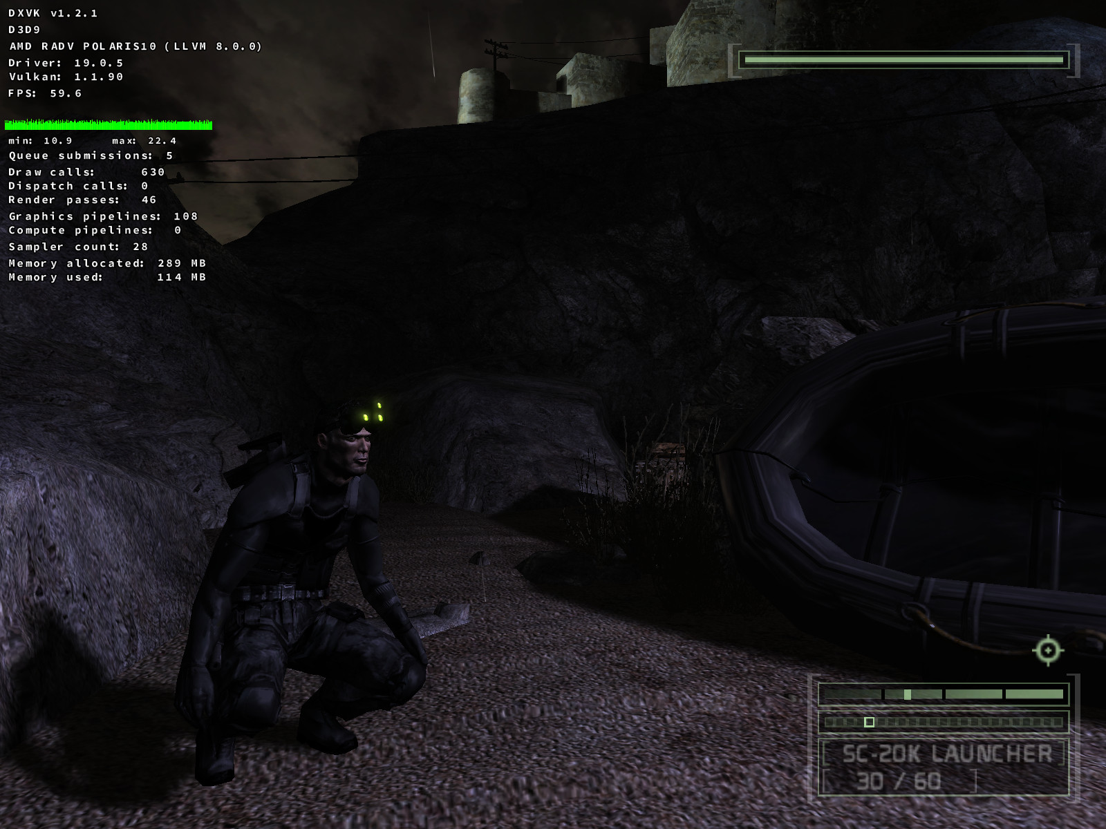Splinter Cell Chaos Theory Unrerndered Sound Still On Issue