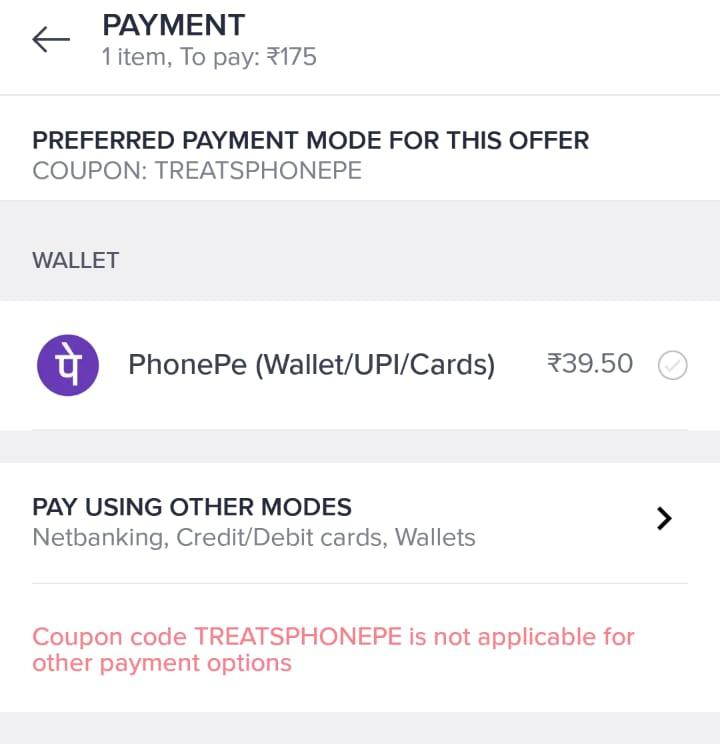 How to disable only some payment modes in Razorpay UI