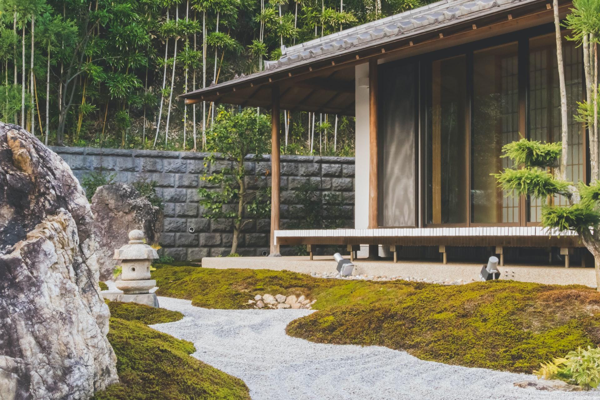 A Japanese zen garden
