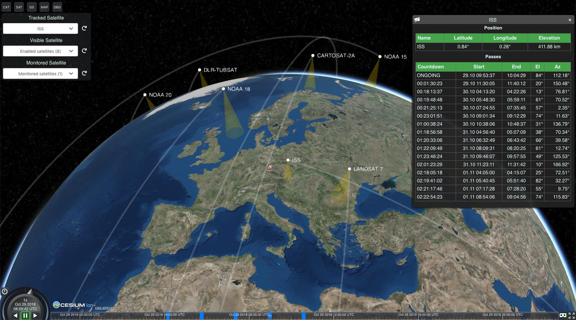 GitHub - Flowm/satvis: Satellite orbit visualization and pass