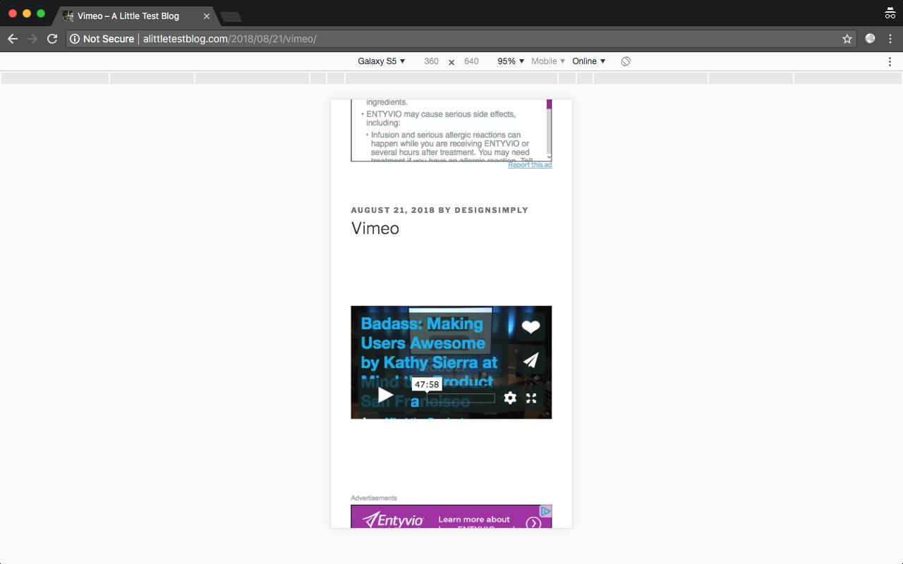 Youtube/Vimeo Video insert isn´t responsive · Issue #9211