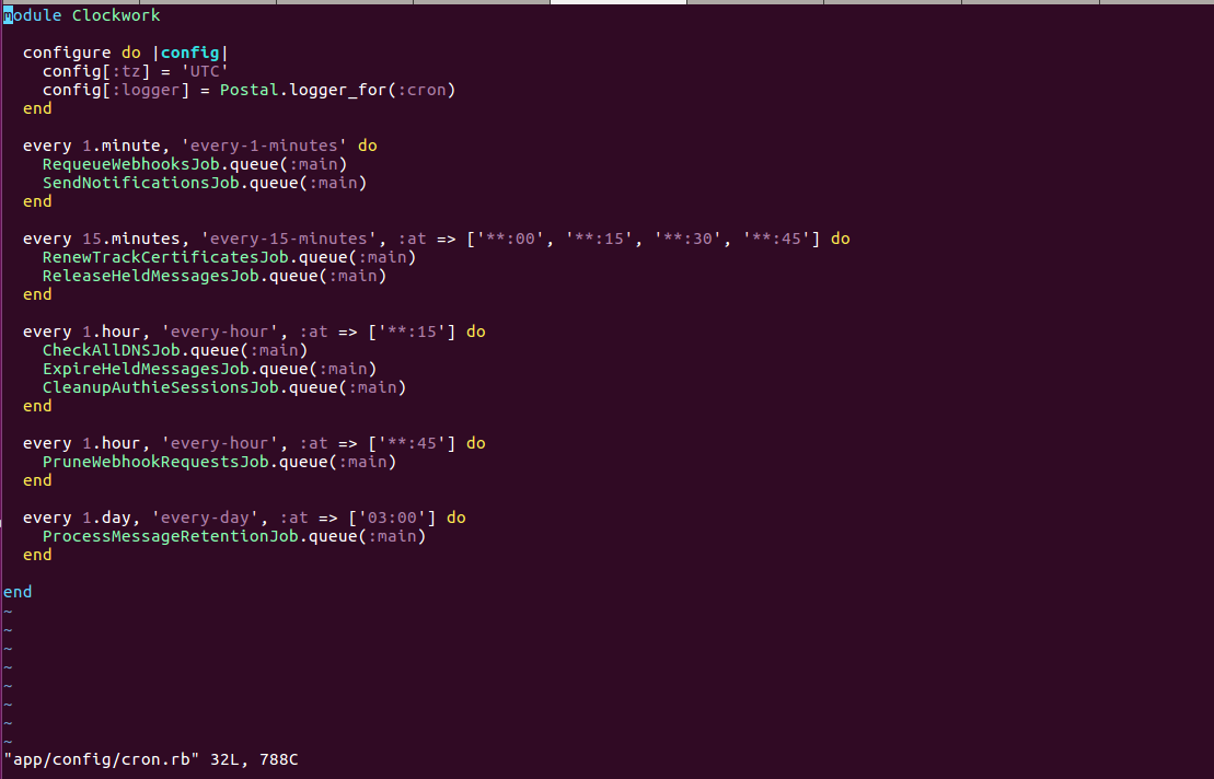 Cron Not Running Properly · Issue #620 · atech/postal · GitHub