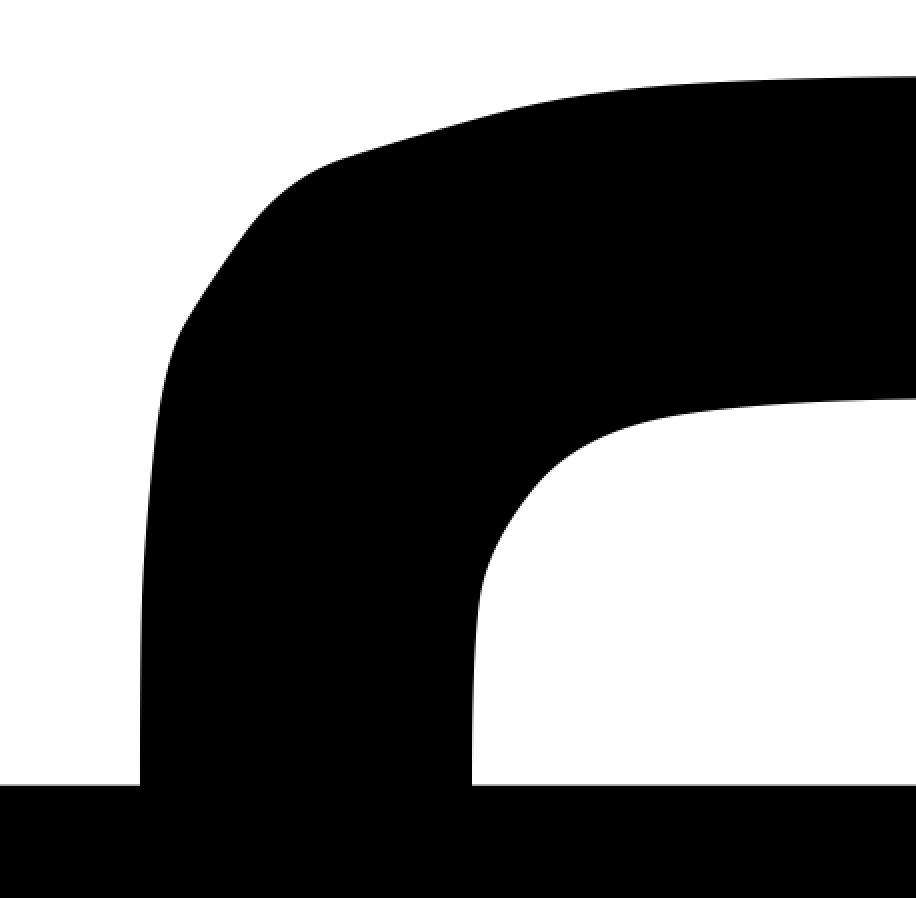 zoomed-in view of the curve of the ⟨f⟩ glyph