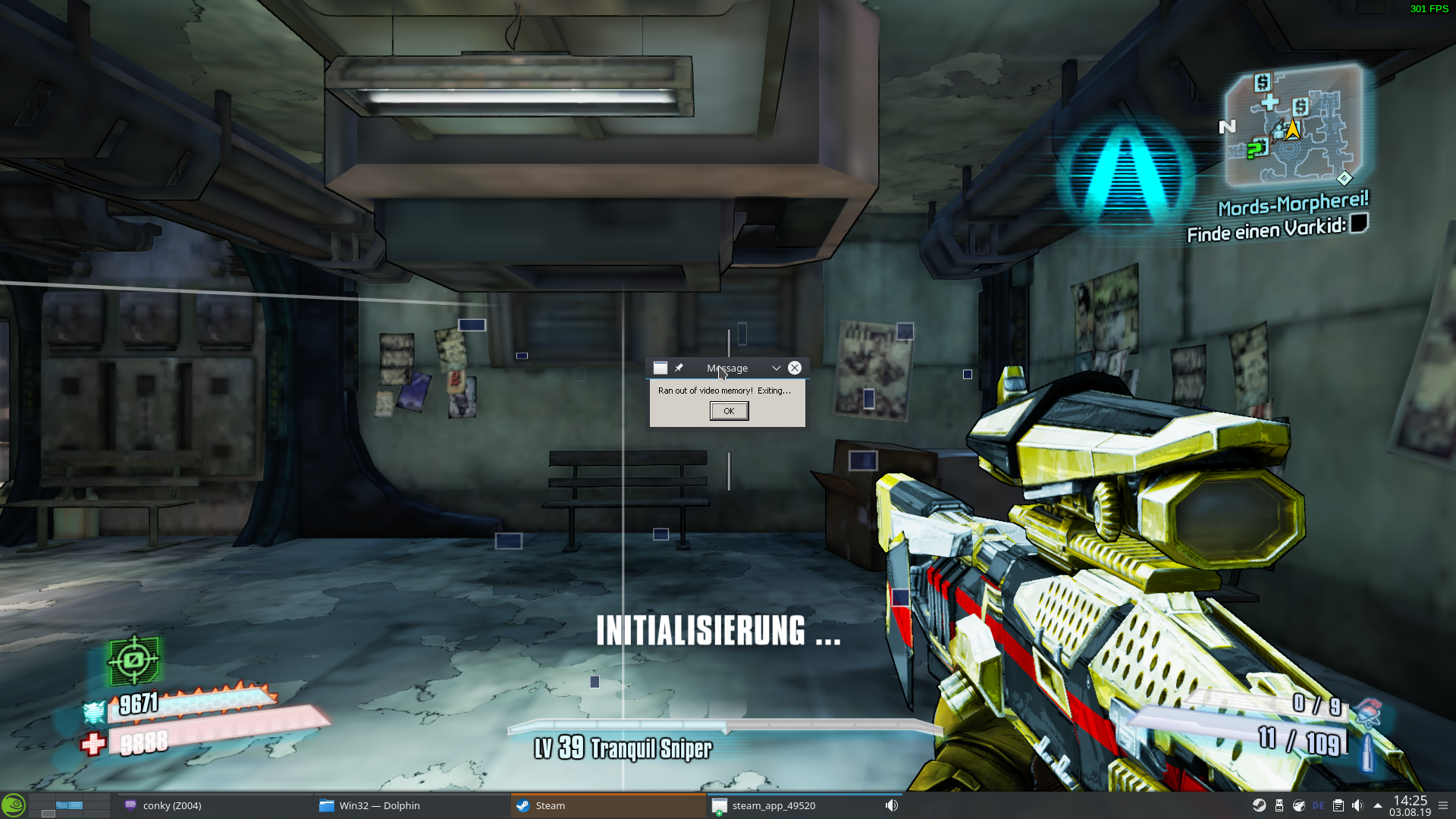 Borderlands 2 runs out of video memory (or so it says) · Issue #170
