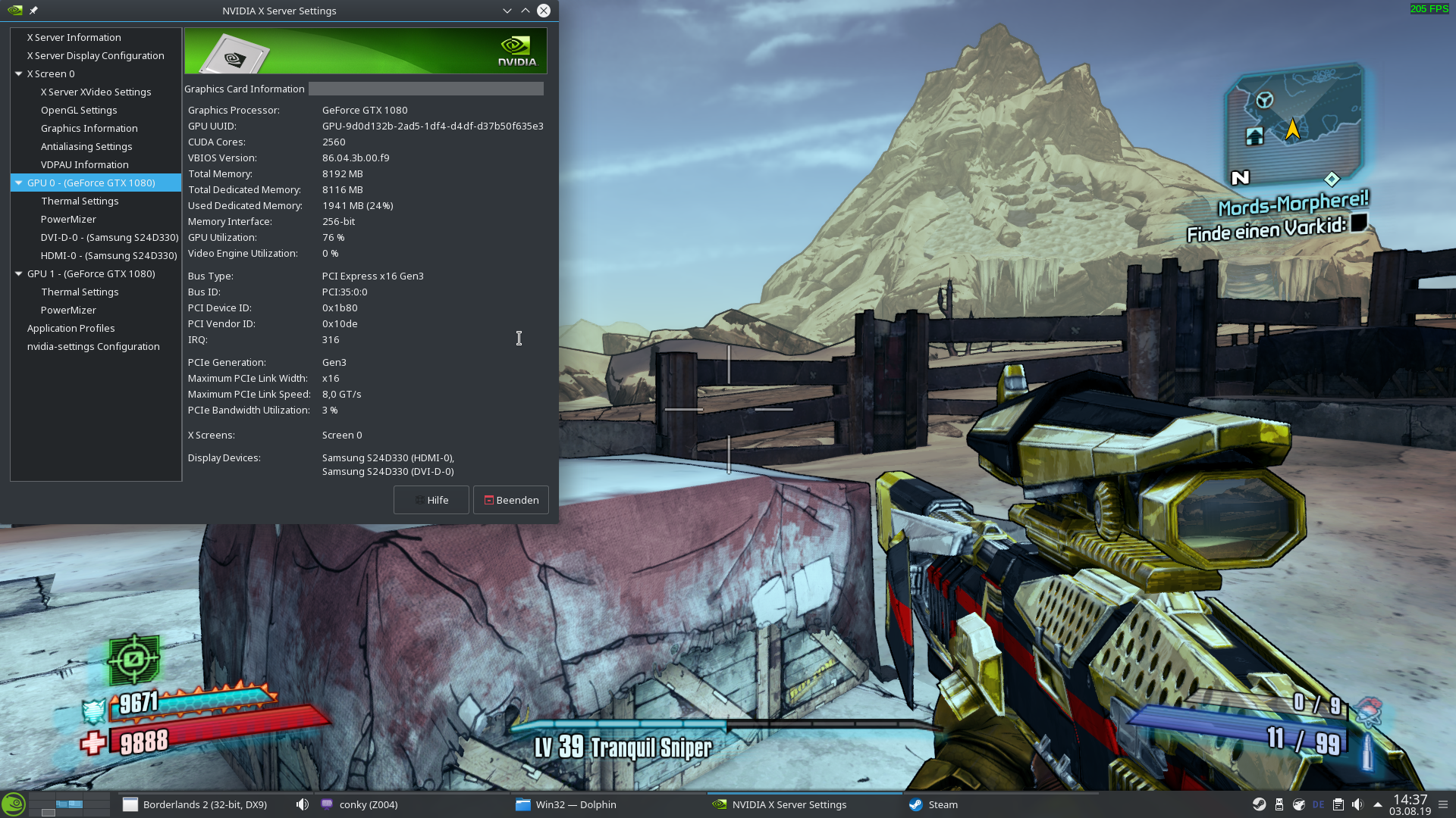 Borderlands 2 runs out of video memory (or so it says
