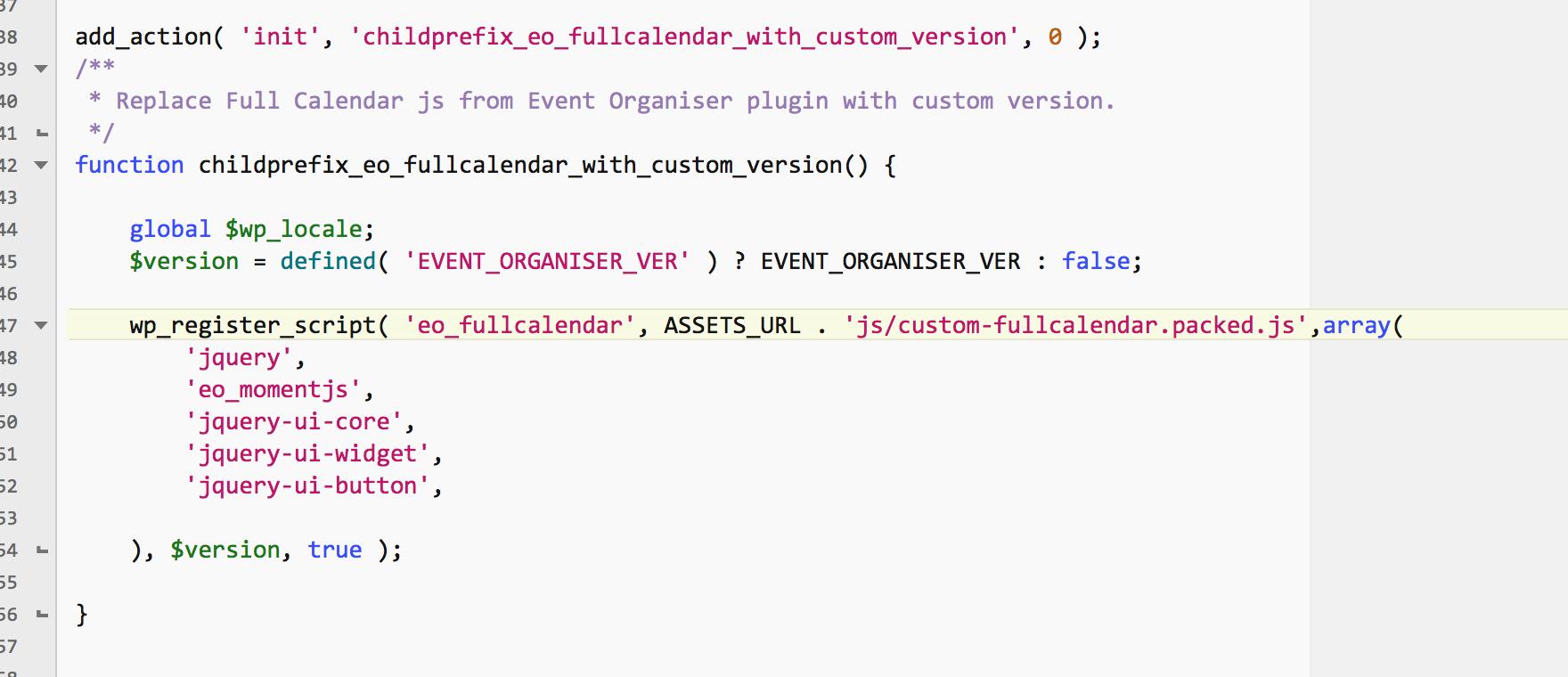 jQuery FullCalendar js: disable prev/next button for past/future
