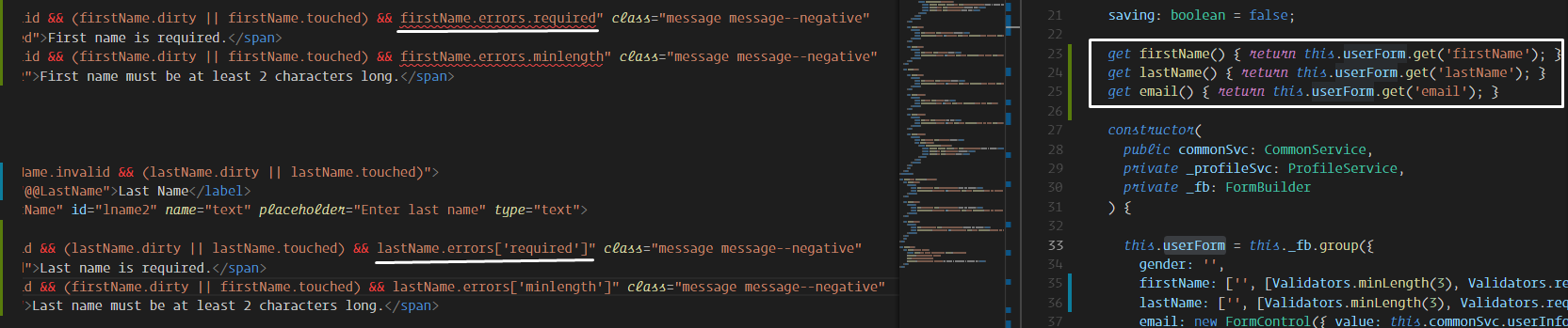 errors? required highlighted as error · Issue #149 · angular/vscode