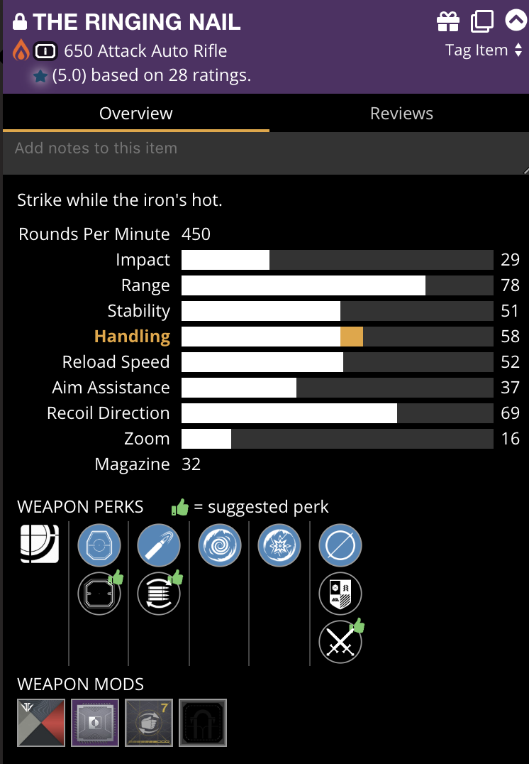 Aim Assist and doesn't reflect targeting adjustor mod  Same for