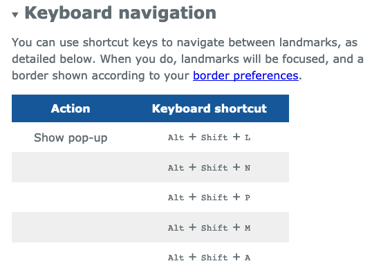 Keyboard shortcuts table broken on Firefox 66 · Issue #278 · matatk