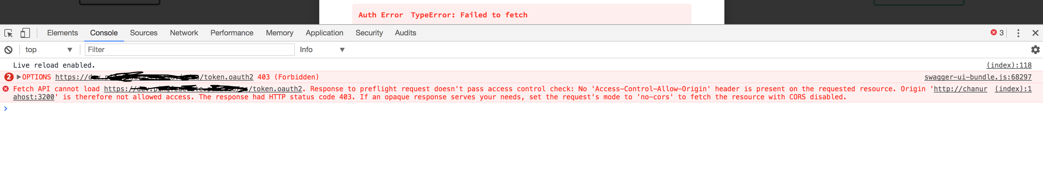 Developers - Swagger-ui oauth2 accesscode flow not working