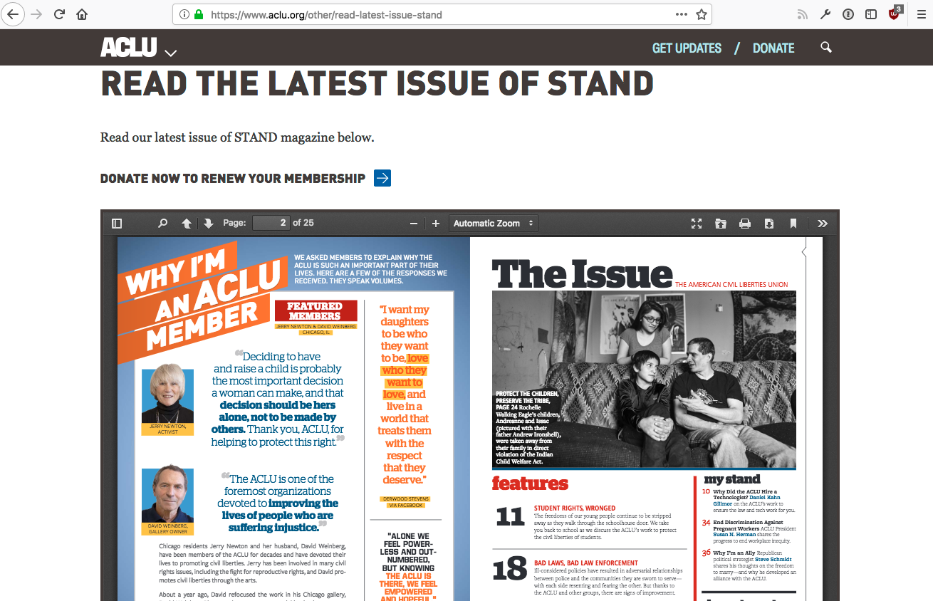Magazine PDF with side-by-side pages renders off-screen