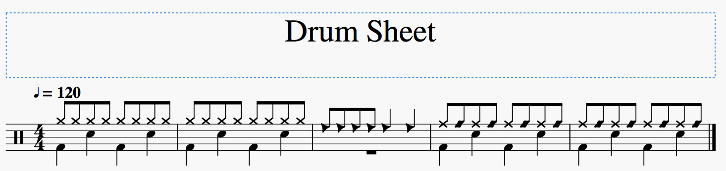 feat: Notehead Types (Percussion glyphs are not set/drawn