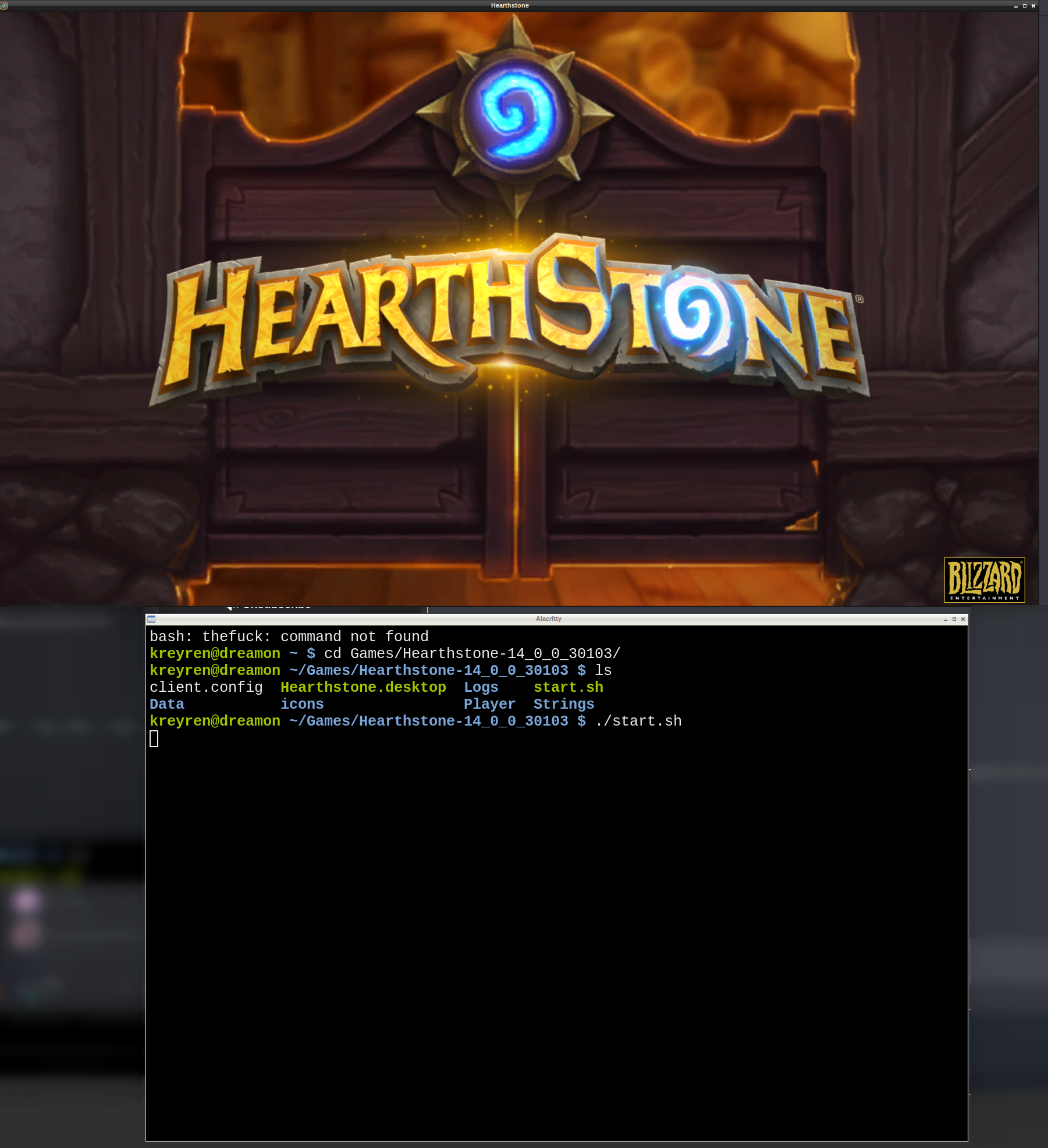 Request: Add Hearthstone running natively on linux · Issue
