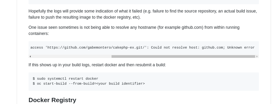 Could not resolve host github com while deploying app on