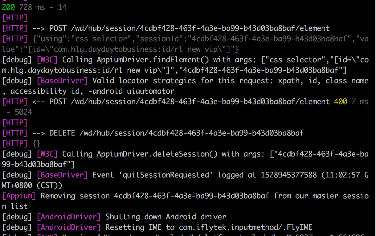 Appium from 1 7 1 update to 1 8 1, find_element_by_id doesn