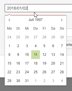 Dates typed in wrong format result in weird selection · Issue #191