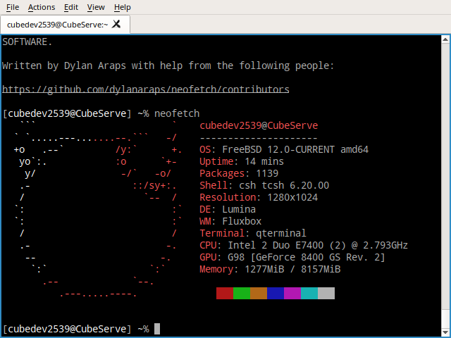 FreeBSD 12-CURRENT detected on TrueOS · Issue #855 · dylanaraps