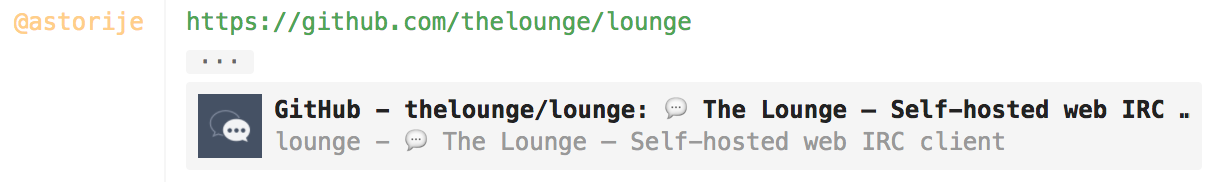 The Lounge - Link preview