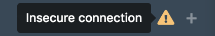 If you are disconnected from the network, the channel list will display a broken link icon