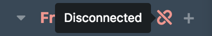If the connection is not secure, the channel list will display a warning icon