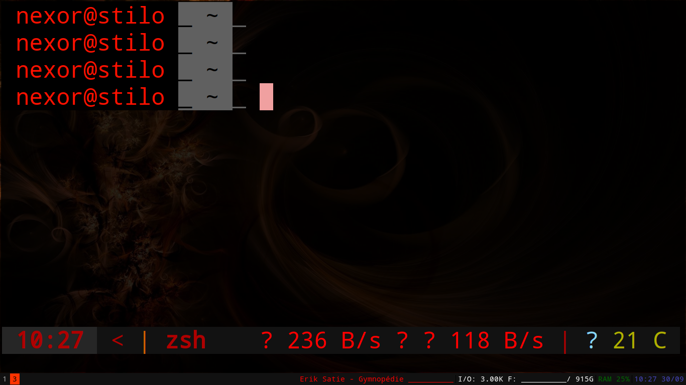 Symbols are not displayed even though font is loaded [Arch