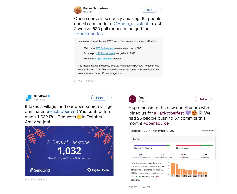 Hacktoberfest Tweets