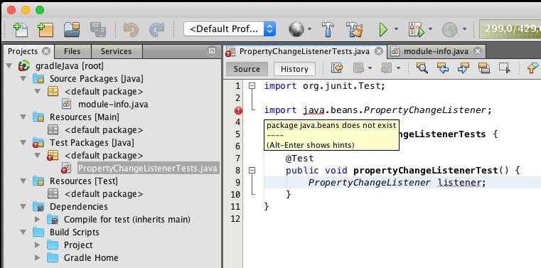 error on import statements