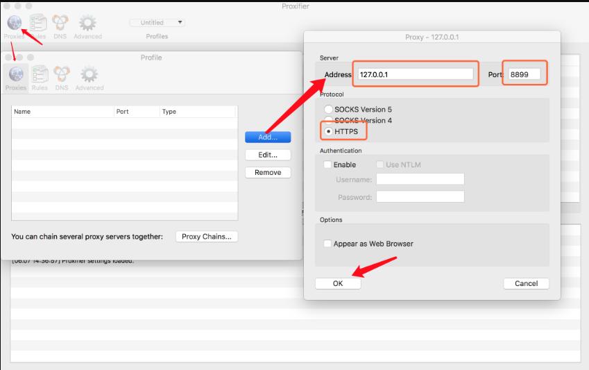 Mac客户端添加代理服务器