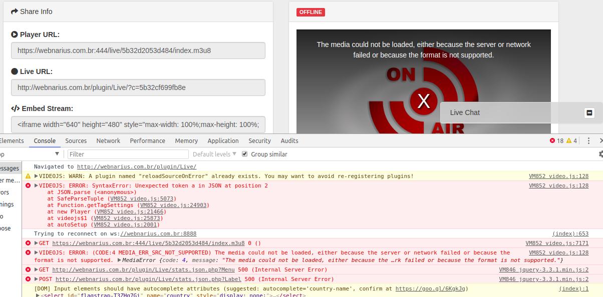 Live problem · Issue #801 · YouPHPTube/YouPHPTube · GitHub