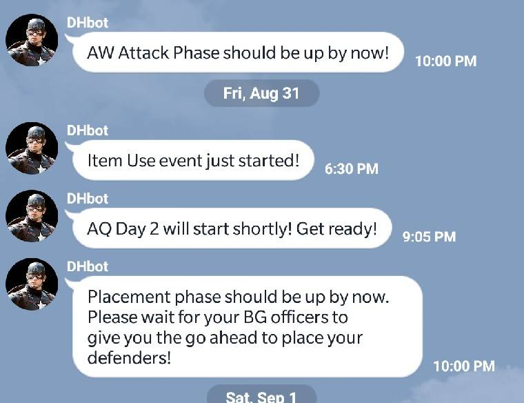Implement push notifications for groups (mcoc events, on