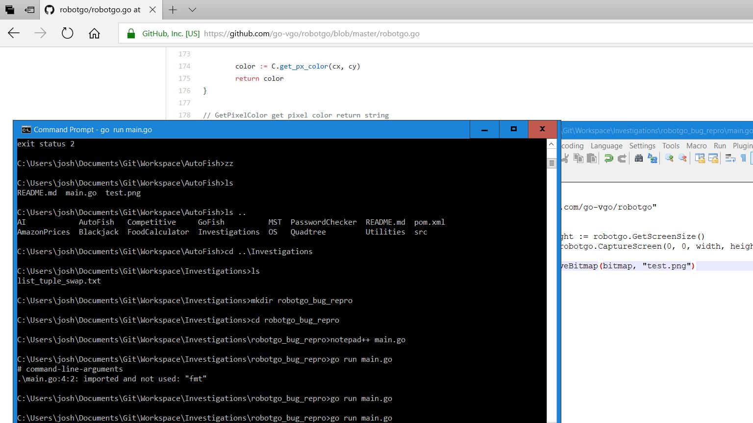 Windows 10 GetScreenSize too small · Issue #129 · go-vgo