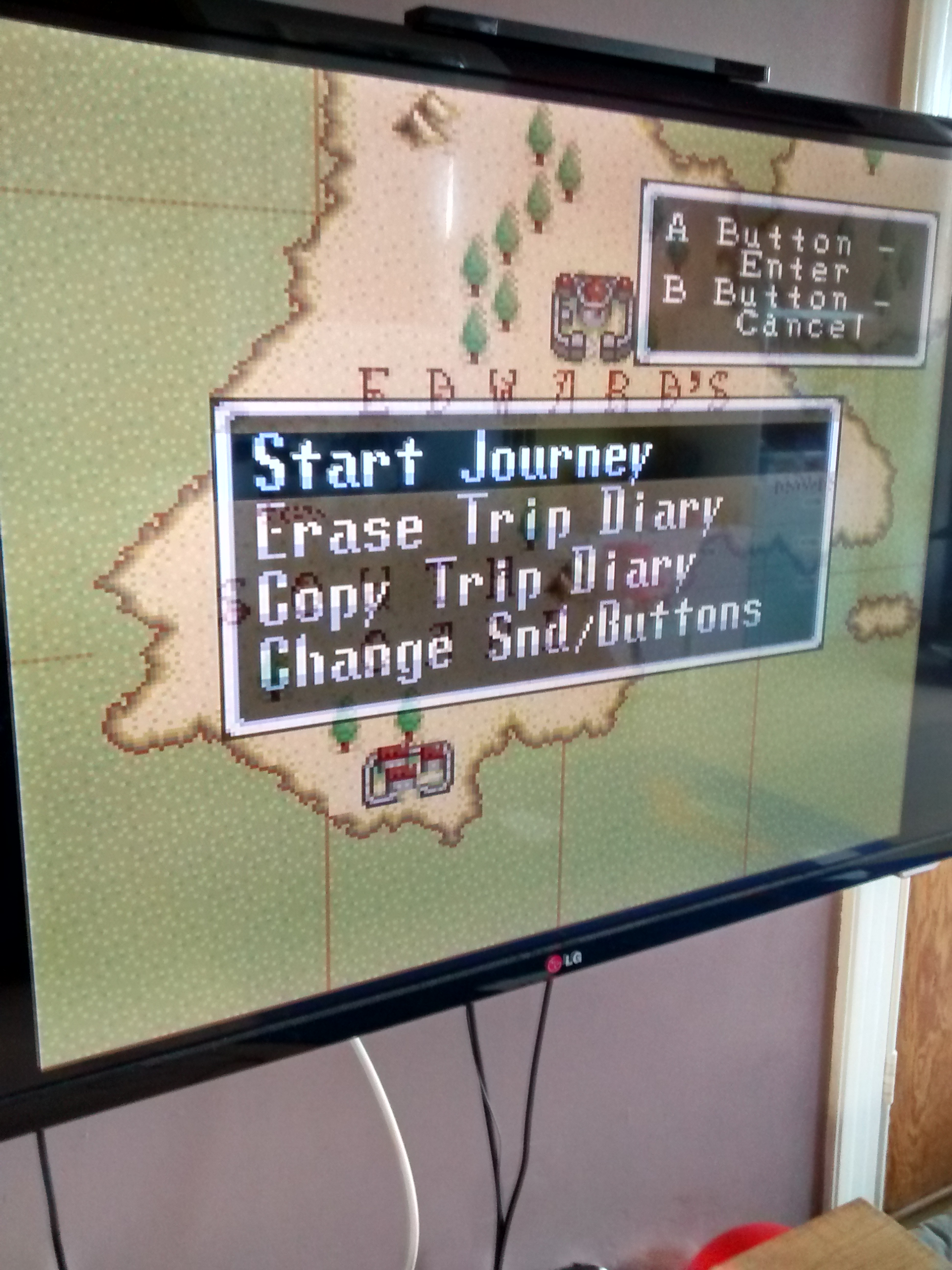 Illusion of Gaia: transparency issue on diary (save) menu