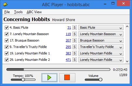 Maestro MIDI to ABC converter for LOTRO