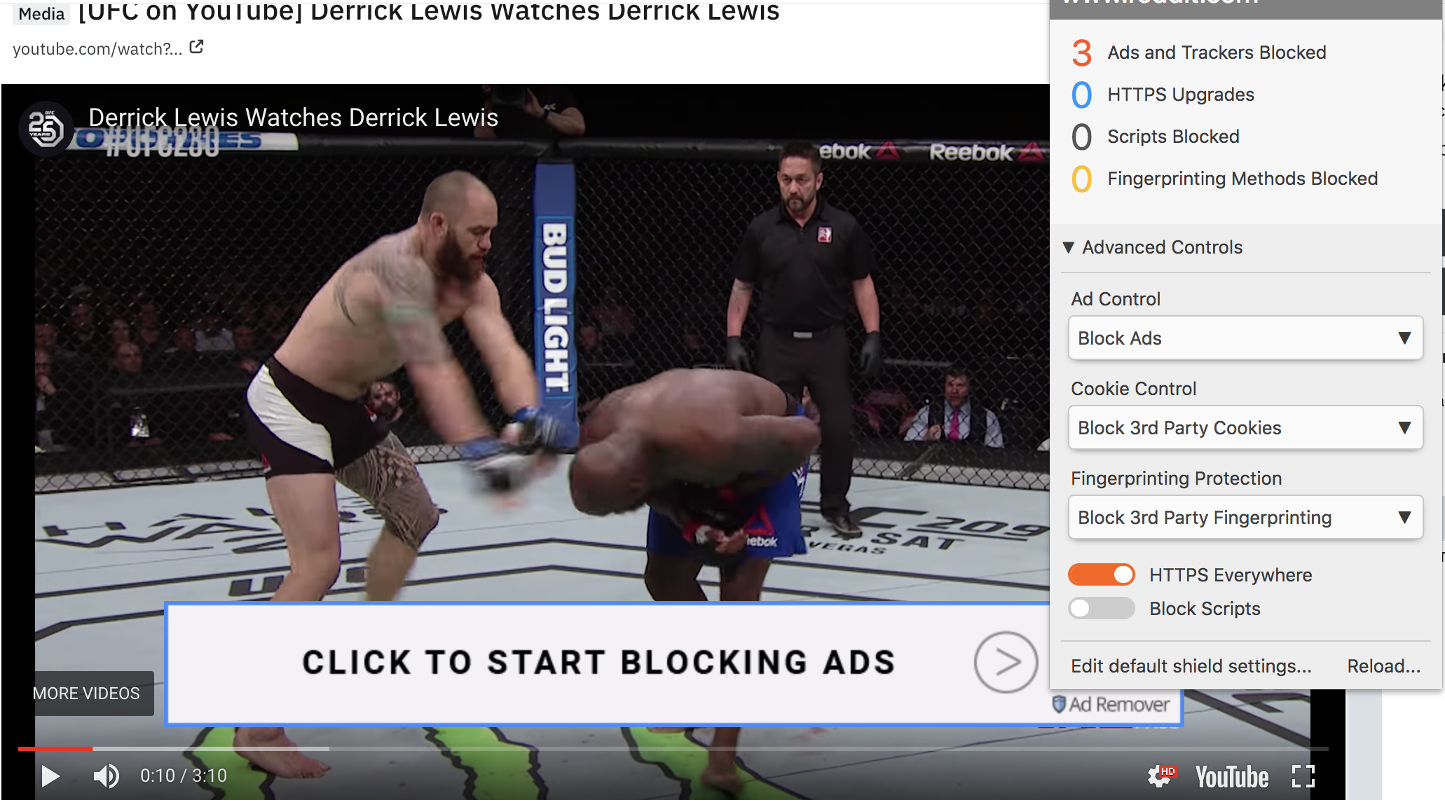 Ads on YouTube (pre-roll and banner overlays) not blocked