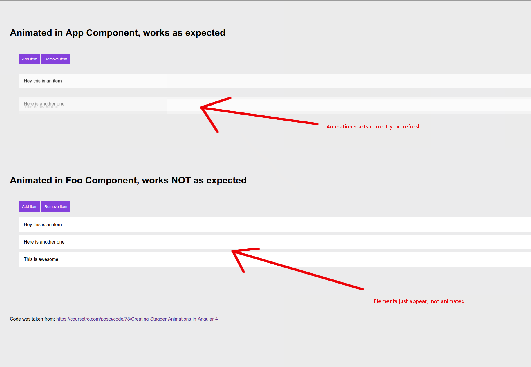 Angular Animation Behaves Differently In Routed Component Vs App Component Issue 19970 Angular Angular Github