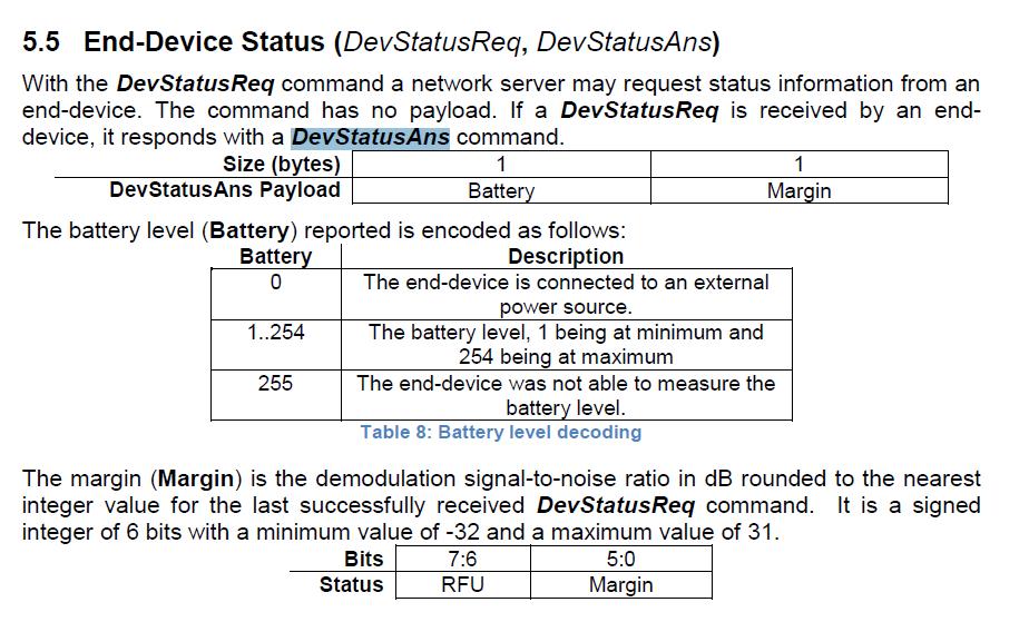 SNR value in DevStatusAns · Issue #475 · Lora-net/LoRaMac-node · GitHub