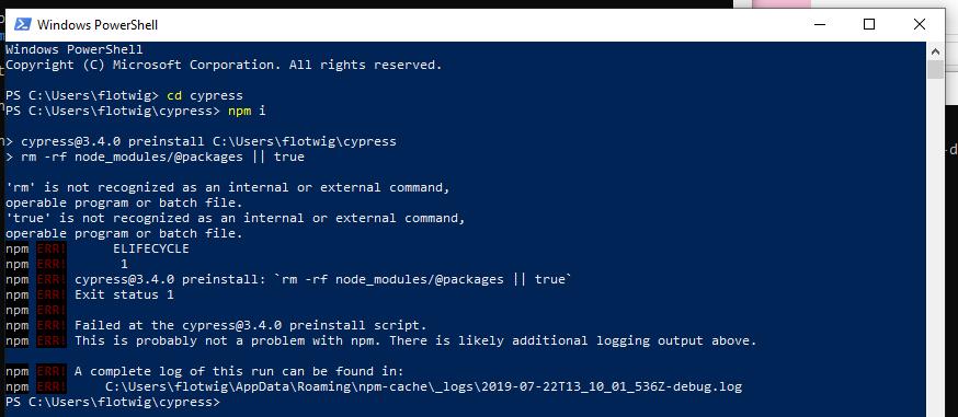 preinstall` script is broken on Windows · Issue #4775