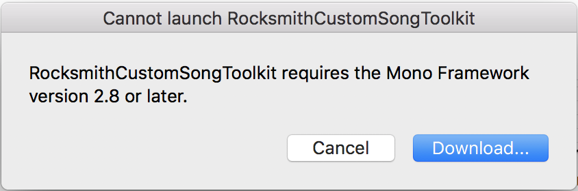 Mac) Mono 5 14 0 + RSToolKit (latest and latest recommended