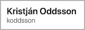 Kristján Oddsson