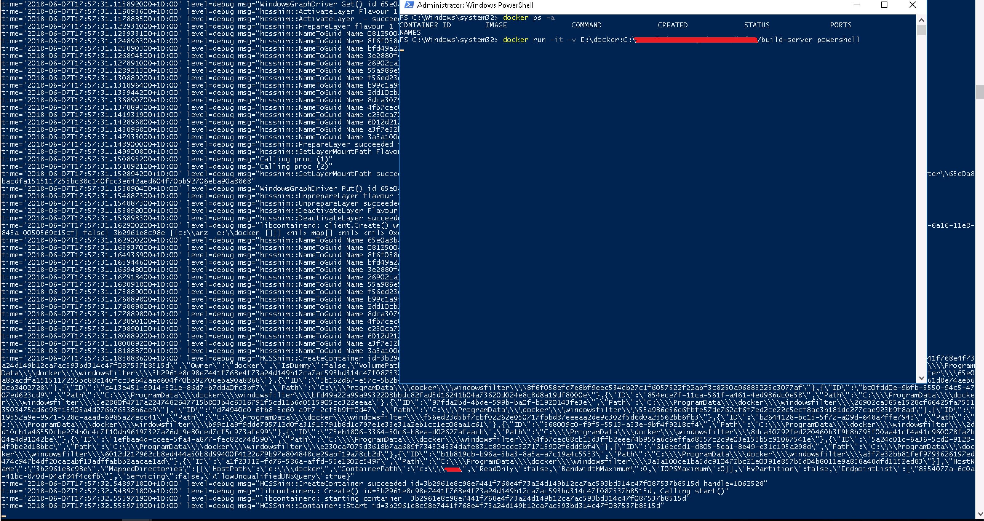 Windows: docker pull microsoft/nanoserver failed to register