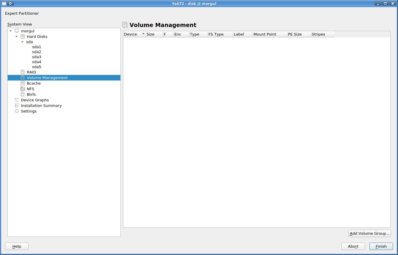 partitioner-volume-management-view