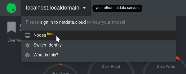 A screenshot of a second link to the Nodes View in Netdata Cloud