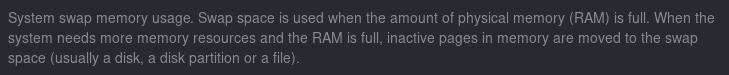 Screenshot of the swap description
