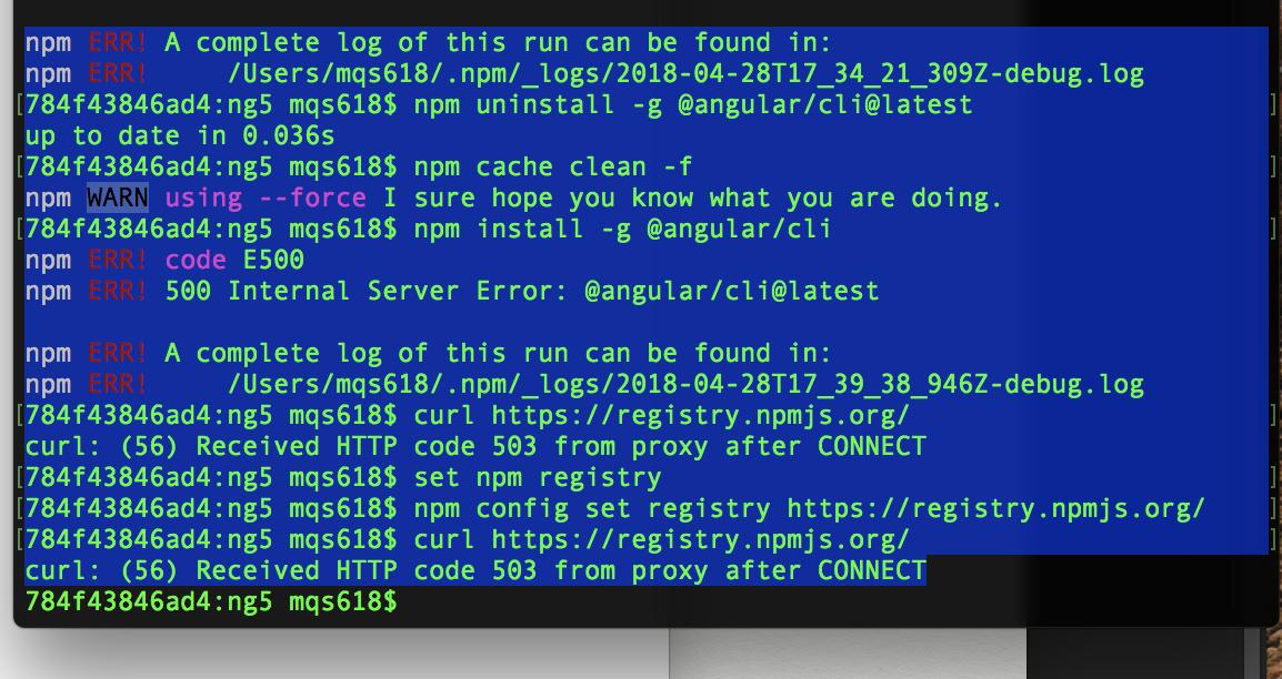 npm ERR! 500 Internal Server Error: later@^1 2 0 · Issue #214